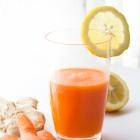 Χυμός Καρότου με Λεμόνι και Τζίντζερ