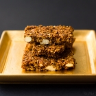 Granola Bars with Candied Ginger, Pineapple and Spices