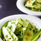 Cucumber Salad with Fresh Cilantro and Lime Juice