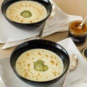 White Gazpacho with Bottarga Powder – Λευκό Γκασπάτσο με Αυγοτάραχο Τρίμμα