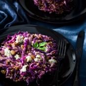Lentils, Red Cabbage & Stilton Salad – Σαλάτα με Φακές, Κόκκινο Λάχανο και Στίλτον