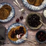 Τηγανίτες Φαγόπυρου με Σάλτσα Κεράσι – Buckwheat Pancakes with Cherry Sauce