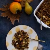 Crumble με Λωτό, Μήλο και Αχλάδι – Persimmon, Pear & Apple Crumble
