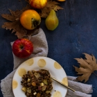Persimmon, Pear & Apple Crumble