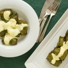 Stuffed Vine Leaves (Dolmadakia) with Crabmeat & Rice