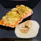 Σολομός με Πατάτες, Ψητά Σκόρδα & Σάλτσα Εστραγκόν