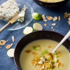 Brussels Sprouts Soup with Blue Cheese