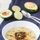 Avocado Soup with Chile-Lime Pepitas