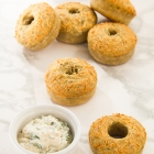 Savory Cheese & Herb Doughnuts with Spicy Spread