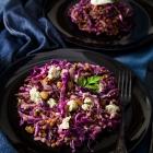 Lentils, Red Cabbage & Stilton Salad