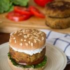 Chickpea Burger with Tzatziki