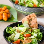 Chickpea Salad with Glazed Carrots