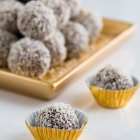 Chocolate Truffles with Coconut & Ginger