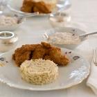 Butter Chicken (Murgh Makhani) with basmati rice