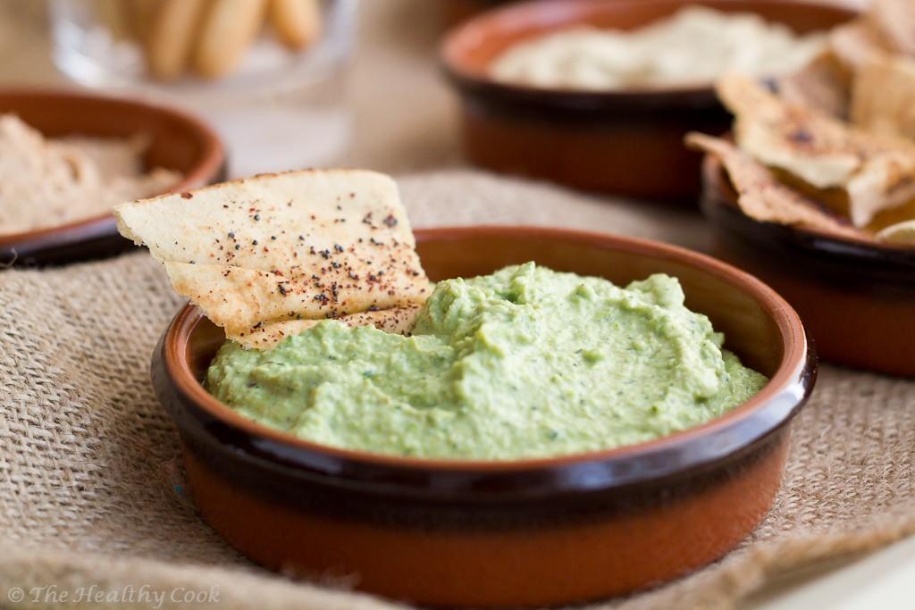 5 Healthy Dips - Curried Pea Dip