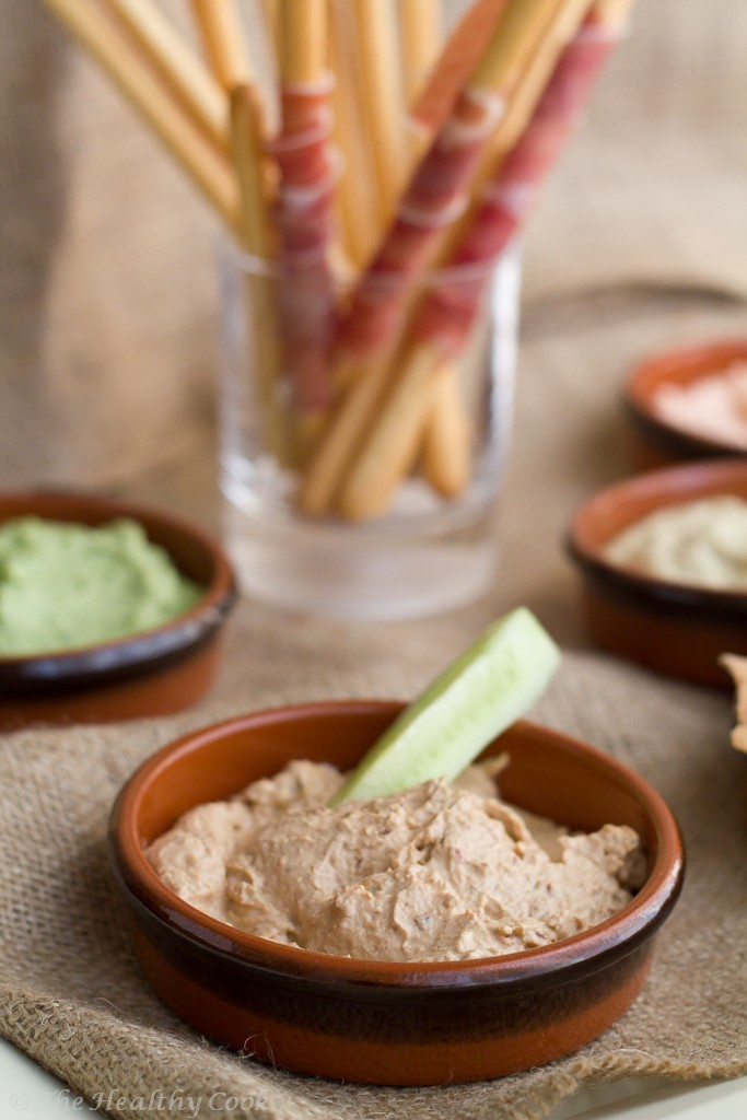 5 Healthy Dips - Roasted Eggplant dip