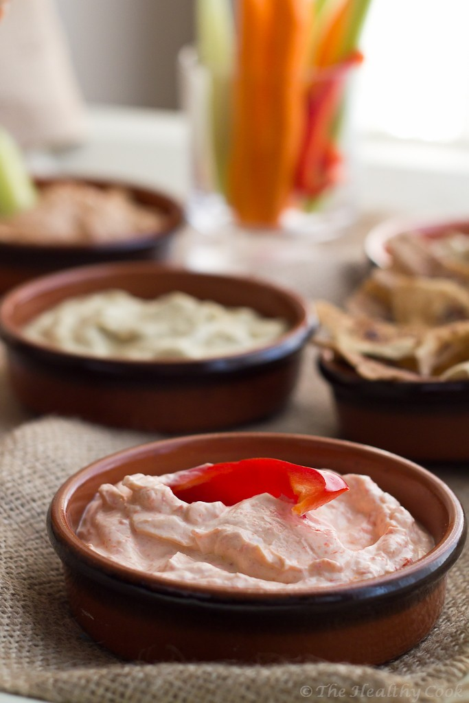 5 Healthy Dips - Red pepper dip