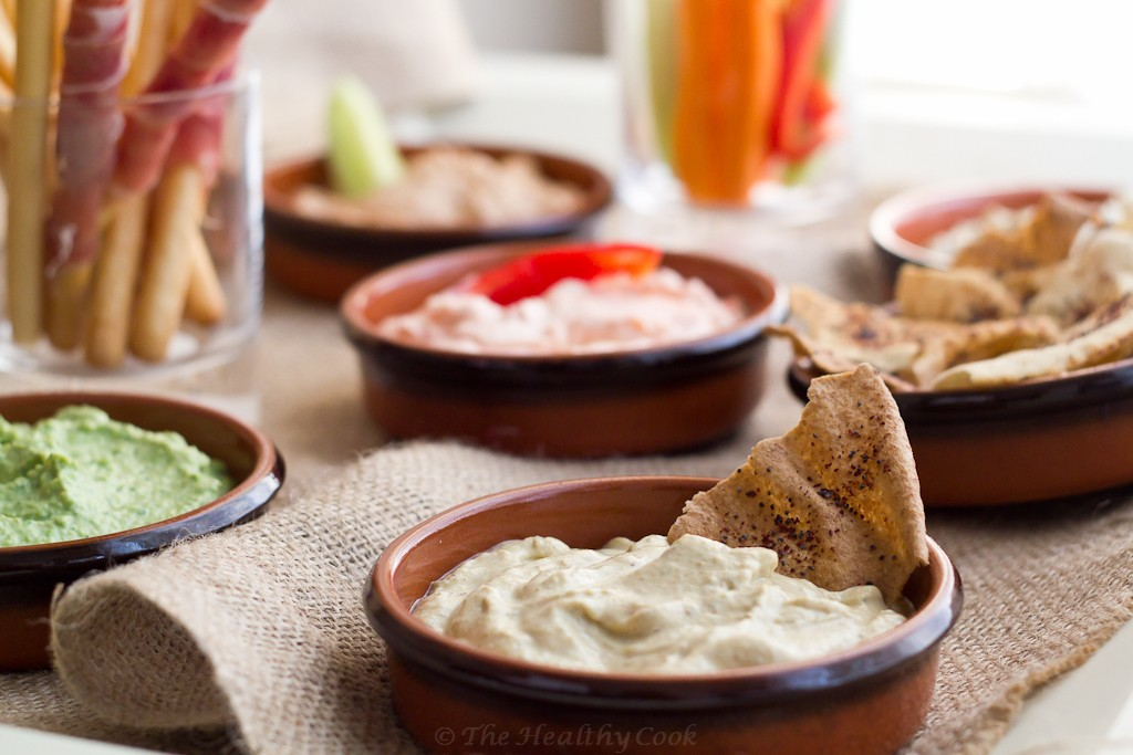 5 Healthy Dips - Roasted zucchini dip