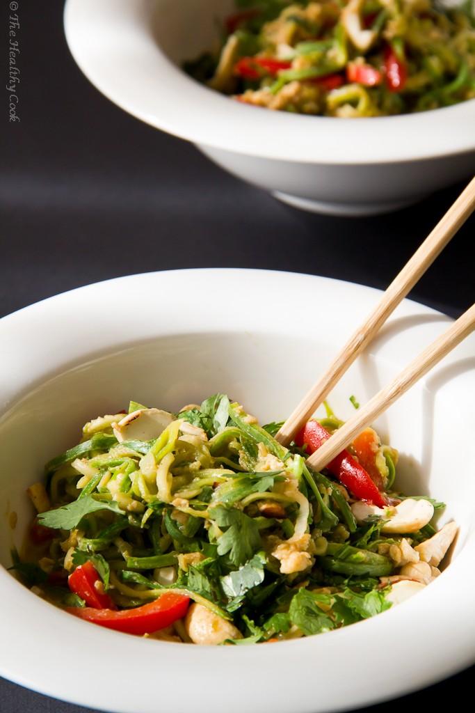 Pad Thai with Zucchini Noodles – Pad Thai με Νουντλς Κολοκυθιού
