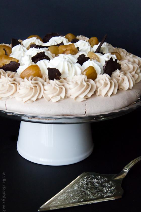 Chocolate & Chestnut Pavlova – Πάβλοβα με Σοκολάτα και Κάστανο