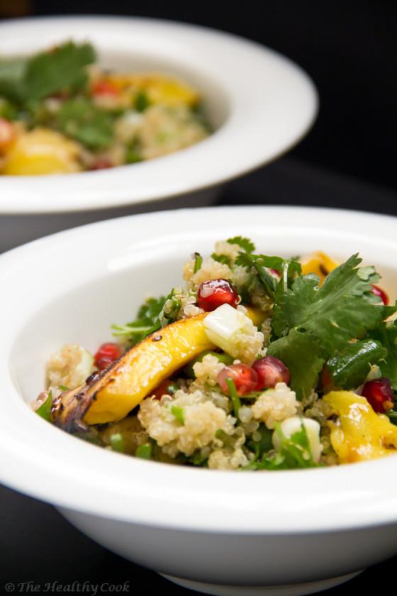 Quinoa Salad with Cilantro & Mango– Σαλάτα με Κινόα, Κόλιανδρο και Μάνγκο