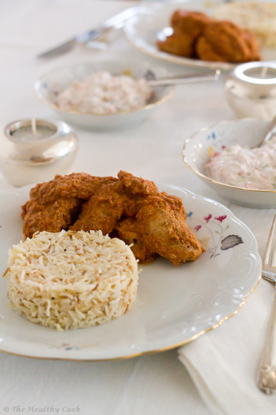 Butter Chicken (Μurgh Μakhani) with basmati rice – Ινδικό Πικάντικο Κοτόπουλο Βουτύρου με ρύζι μπασμάτι