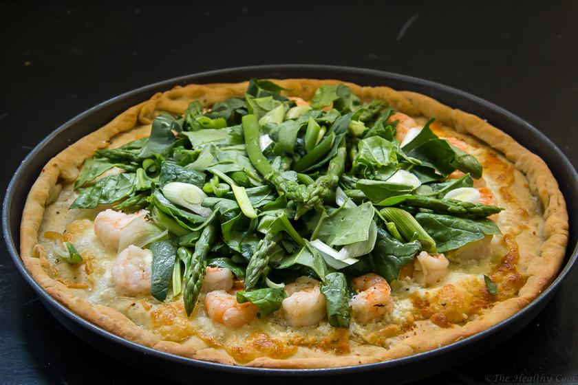 Asparagus & Shrimp Pizza – Πίτσα με Σπαράγγια & Γαρίδες