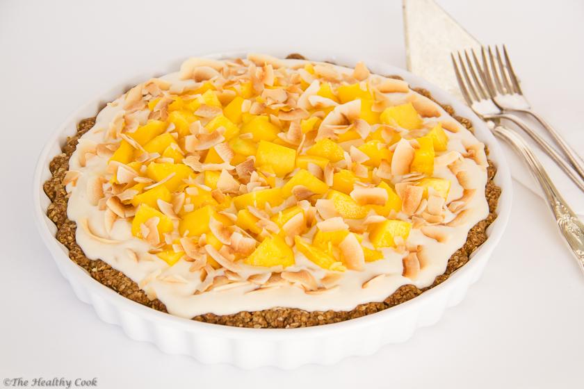 Coconut & Mango Pie – Τάρτα με Καρύδα & Μάνγκο