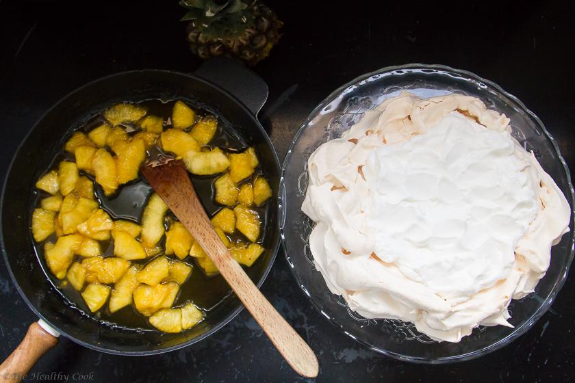 #pavlova, #pineapple, #ginger, #desserts, #festive