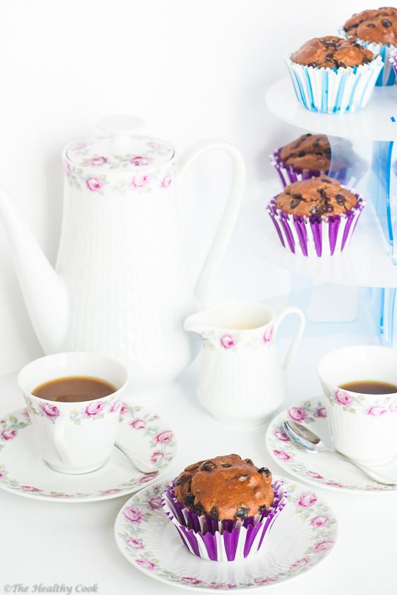 Sugarless Chocolate Muffins – Μάφινς Σοκολάτας χωρίς Ζάχαρη
