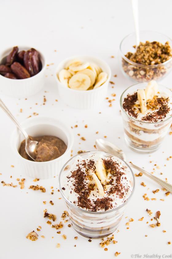 Greek Yogurt Banoffee Parfait – Παρφέ Γιαουρτιού Μπανόφι
