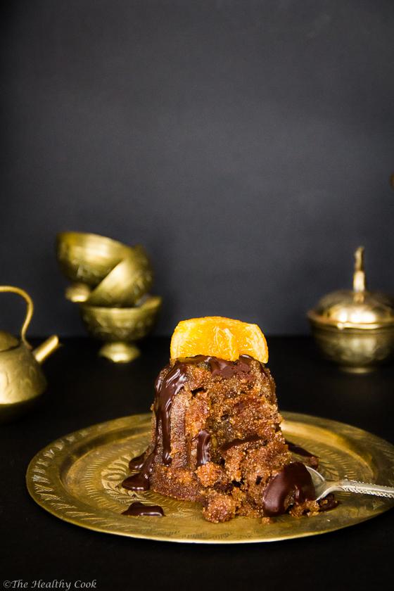 Chocolate Semolina Cake (Halvas) with Nuts – Χαλβάς με Σοκολάτα και Ξηρούς Καρπούς