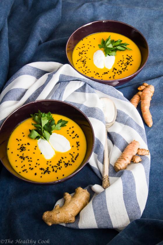 Carrot-Soup-with-Turmeric-Ginger – Καροτόσουπα-με-Κουρκουμά-Τζίντζερ