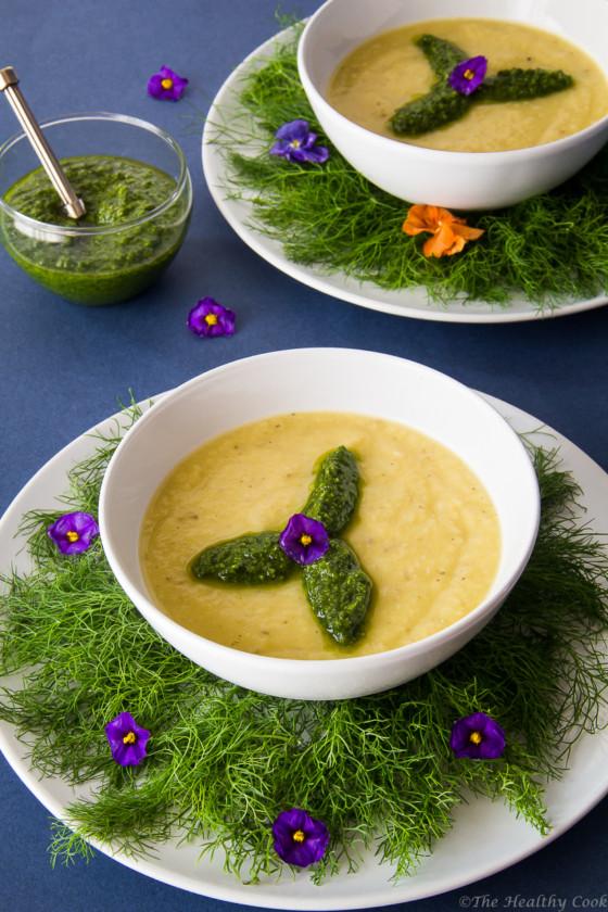 Chilled-Leek-Fennel-Soup – Κρύα-Σούπα-Πράσο-Φινόκιο