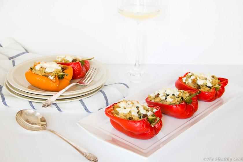 Roasted-Peppers-Quinoa-Feta – Γεμιστές-Πιπεριές-Κινόα-Φέτα