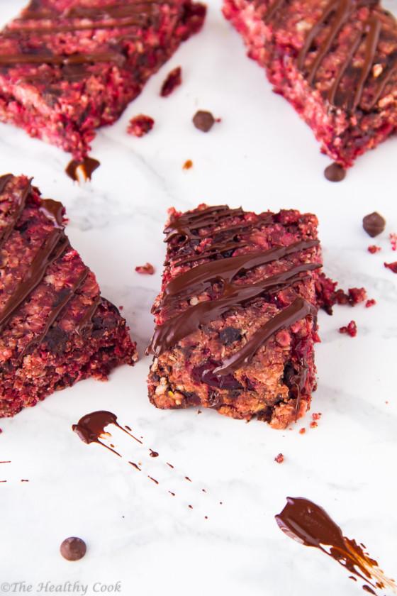 Vegan-Beet-Chocolate-Granola-Bars – Μπάρες-Δημητριακών-Παντζάρι-Σοκολάτα