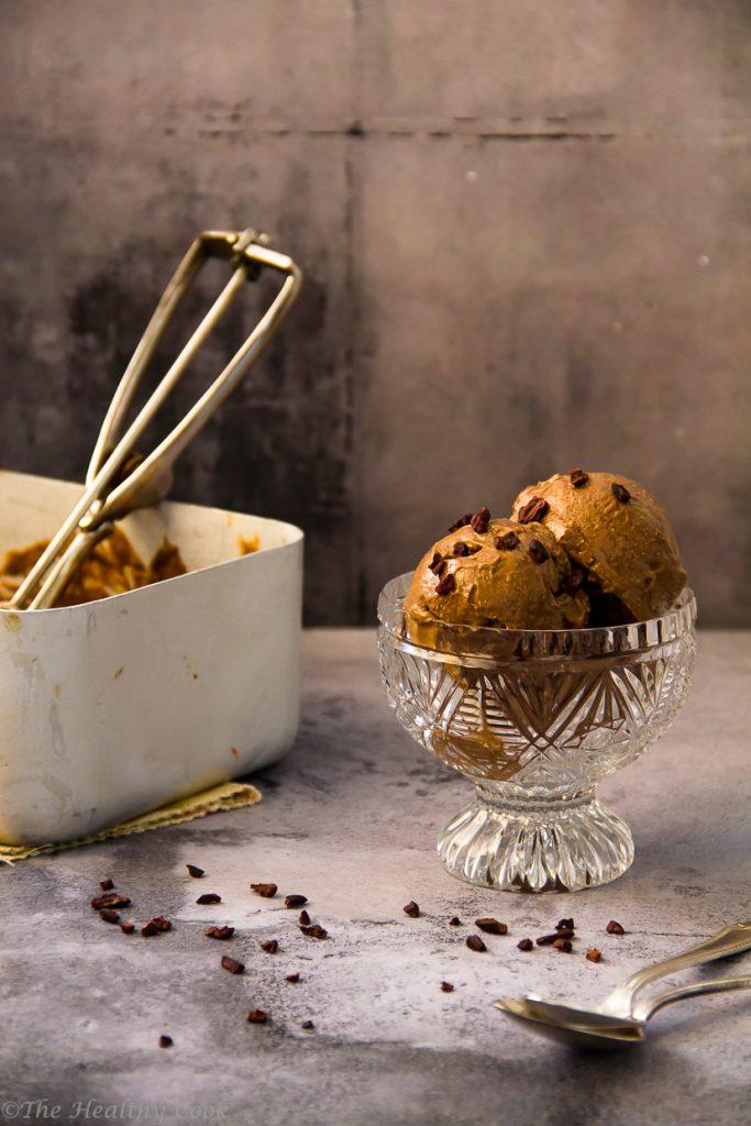 The tastiest and yummiest chocolate chip ice cream, Vegan, GF, LF