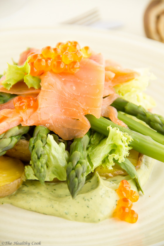 #salmon, fish, #asparagus, #avocado, #salad