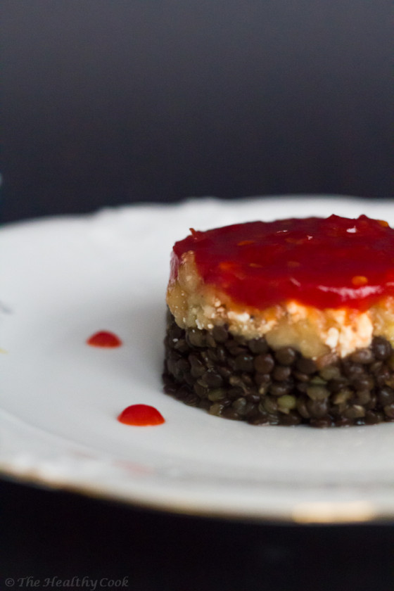 Beluga Lentils with Smoked Aubergines & Red Chili Chutney – Μαύρες Φακές με Καπνιστή Μελιτζάνα και Μαρμελάδα Τσίλι