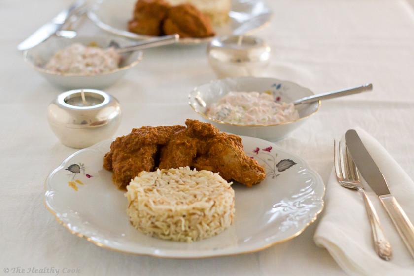 Butter Chicken (Murgh Makhani) with basmati rice – Ινδικό Πικάντικο Κοτόπουλο Βουτύρου με ρύζι μπασμάτι