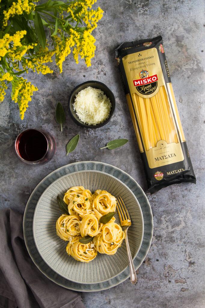 Ζυμαρικά με Κολοκύθα, Κεφίρ και Φασκόμηλο – Pumpkin, Sage & Kefir Pasta